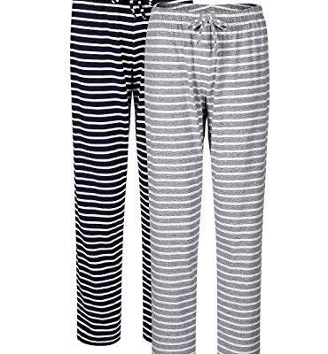 SWOMOG Womens Pajama Pants Modal Yoga Pants Loose Lounge Pants Comfy Trousers Casual PJs Bottoms with Pockets